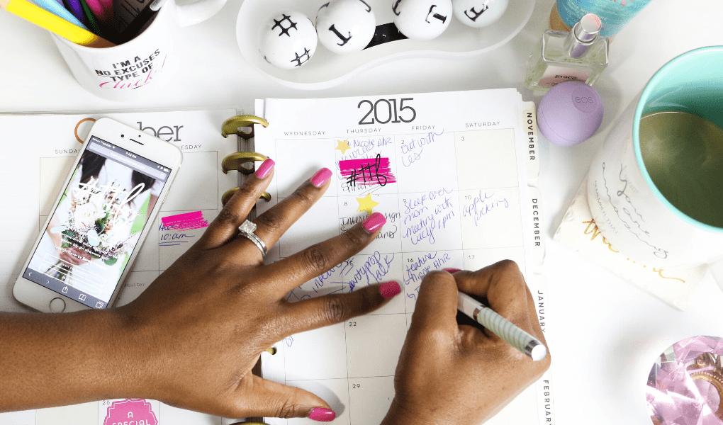 Calendário de escrita